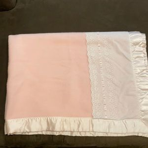 Baby Blanket with satin trim